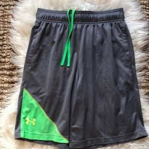 Under Armour loose gray green men's shorts medium